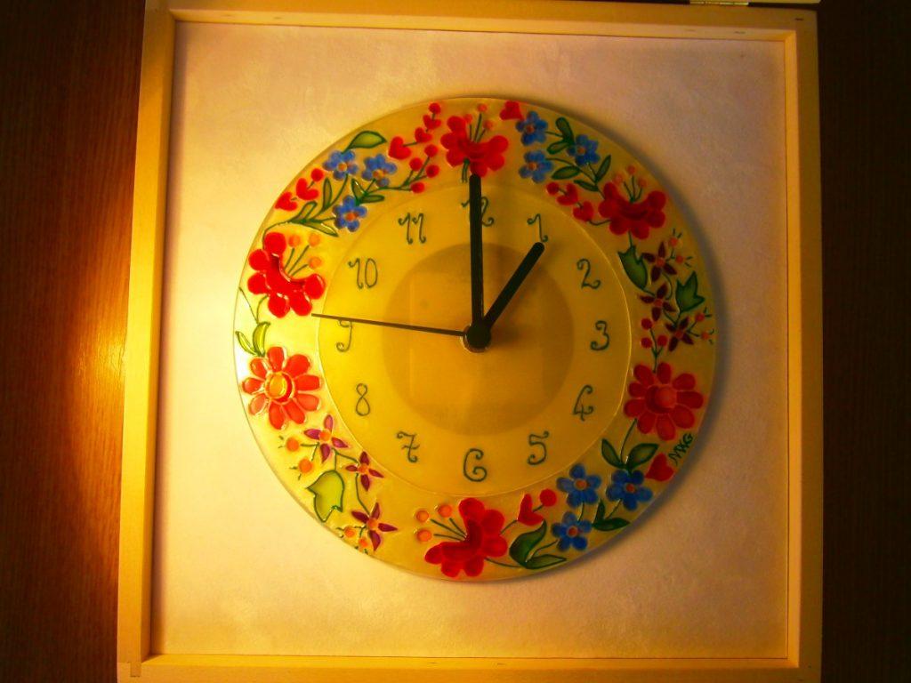 d09efc0a09 Kalocsai mintás óra - Órák - Gabi Glass Art