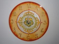 Időtadó mandalás óra - narancs