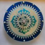 Időtadó mandalás óra-kék